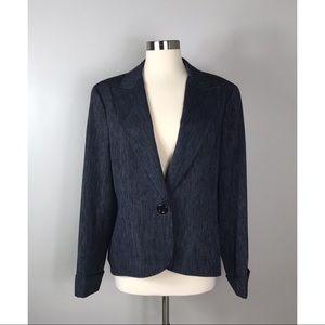 Lafayette 148 Dark Blue Striped Blazer Size 12